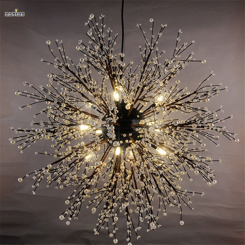 Modern firework led pendant light clear crystal hanging pendant lamp modern firework led pendant light clear crystal hanging pendant lamp for dining room restaurant living room entryway coffee bar in pendant lights from aloadofball Gallery