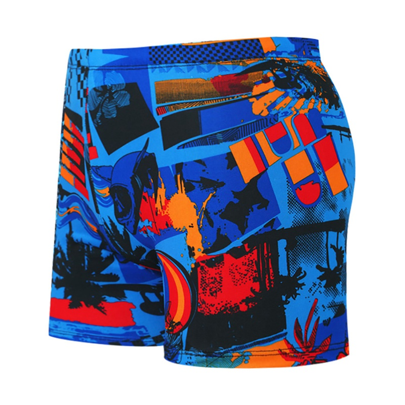 Swimwear Swim Shorts Swimsuit Men Outdoor Casual Style Swimming Trunks Printed Drawstring Loose Short Pants Beach Spring