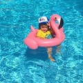 2016 Summer Baby Pink Flamingo Swimming Ring Inflatable Swim Float Water Fun Pool Toys Swim Ring Seat Boat Kids Swim Toys