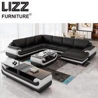 Corner Sofas Living Room Furniture Sets Miami Modern Leather Corner Sofa Group Side Table Coffee Table