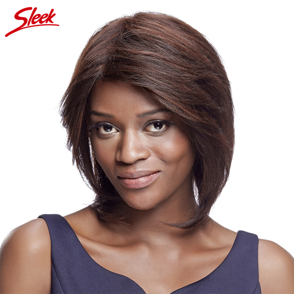 Sleek 100% Human Hair Wig Short Human Hair Wigs for Black Women Aliexpress UK Brazilian Virgin Hair U part Brazilian wigs Candy
