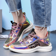 Fashion Glitter Women Casual Shoes Flats Glisten Superstar Sneakers Luxury Designers Trainers Colorful
