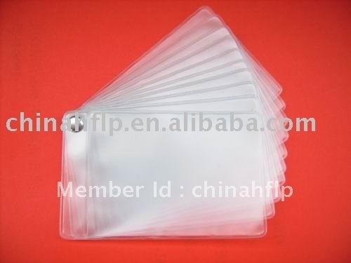 Plastic card holders id badge holders vertical rigid plastic id plastic multiple pocket business card holder colourmoves Choice Image