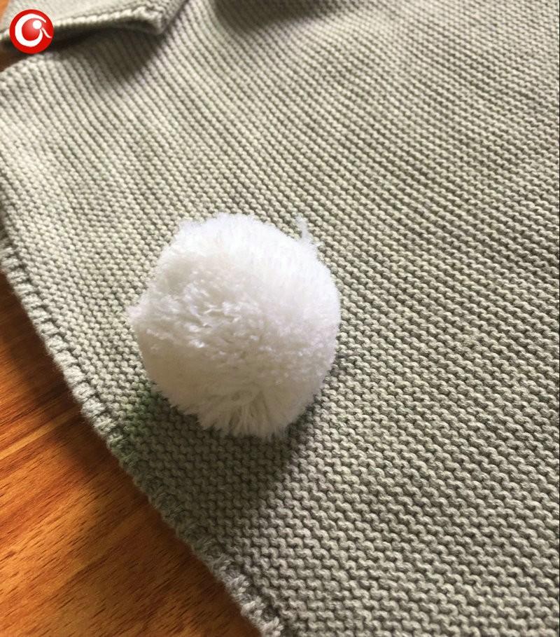 Autumn Crocheted Knitting 3D Rabbit Pattern Baby Girls Cardigan Children Toddler Boys Cotton Sweater Kids Warm Jumper 1-5Y (2)