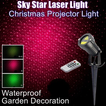 Outdoor Waterproof IP65 Garden Decoration Christmas Laser Spotlight Light Sky Showers Star Projector Red and Green Color with RF