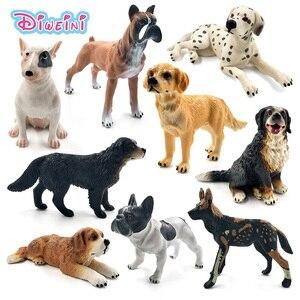 Image 1 - Далматинец бултерьер Лабрадор сибирская хаски, собака, фигурки животных, фигурки, домашний декор, подарок для детей, детские игрушки