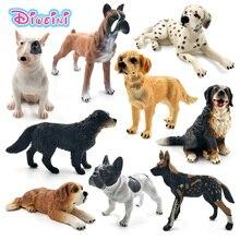 Figurines danimaux, Bulldog Terrier Labrador, husky sibérien, figurines, décoration de la maison, cadeau pour enfants, jouets pour enfants