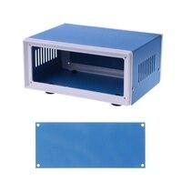 """Niebieski metalowa obudowa przypadku projektu DIY skrzynka przyłączeniowa 6.7 """"x 5.1"""" x 3.1"""" w Złącza od Lampy i oświetlenie na"""