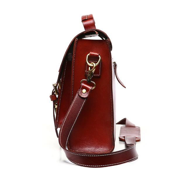 Retro Crazy Horse Genuine Leather women men bag leather briefcases handbag business bags man bags vintage shoulder messenger
