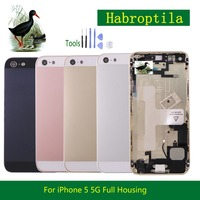 10Pcs Lot Replacement For IPhone 5 5G Middle Frame Bezel Chassis Back Full Housing Battery Door