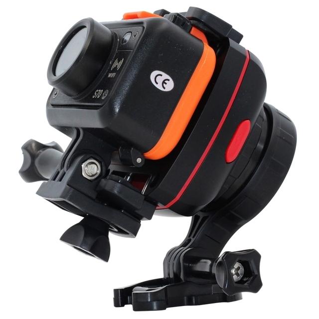 Cabeça do tripé ajustável gryo anti-shake cardan estabilizador de inclinação da cabeça do tripé adaptador de montagem para gopro hero 4 xiaomi yi câmera esporte