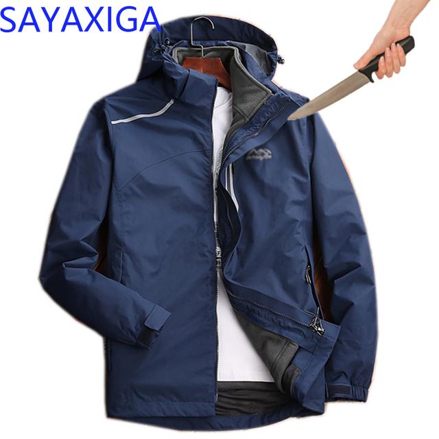 New Self Defense Anti Cut Clothing Anti-stab Anti-Knife concealed Cut Resistant Men Jacket Security Soft anti-cut Fleece jackets