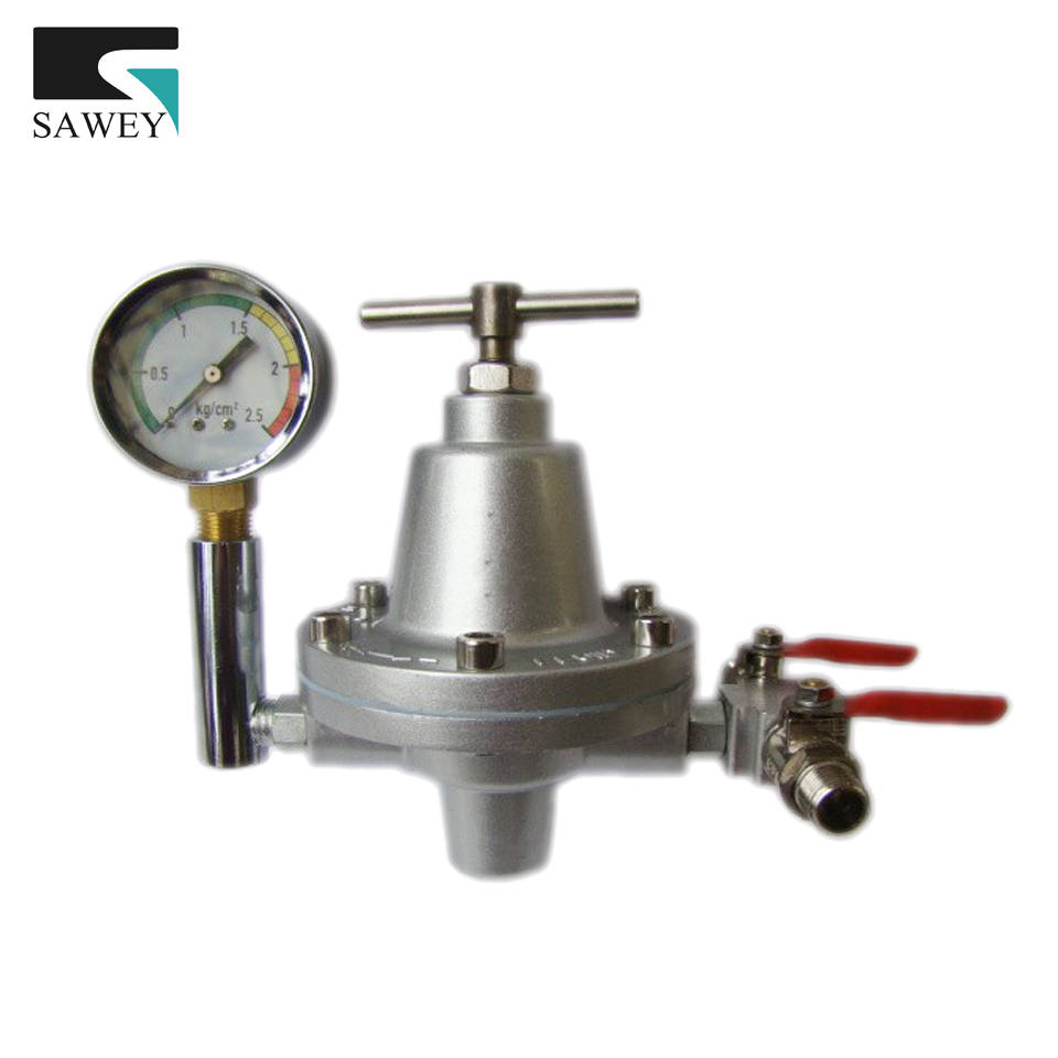 FREE SHIPPING Fluid Pressure Maintaining stabilizing Valve Regulator, adjustable gauge SMALL FLOW, can be link with 1 spray gun rice cooker parts steam pressure release valve