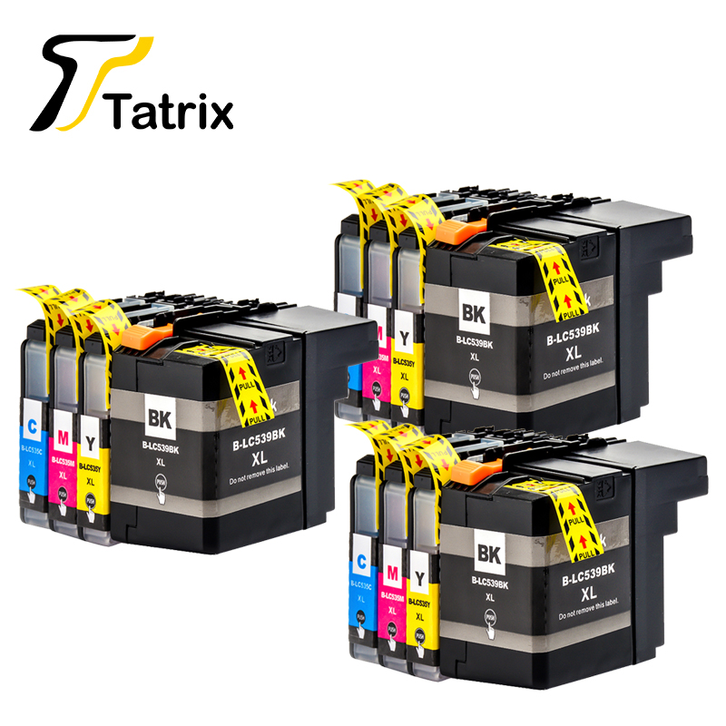 12PCS Compatible Ink Cartridge LC539XL LC535 Full ink For Brother DCP-J100 DCP-J105 MFC-J200 InkBenefit free shipping by dhl 4colors full ink ciss suit for brother lc950 lc900 lc47 lc09 series ink cartridge suit for dcp 115c