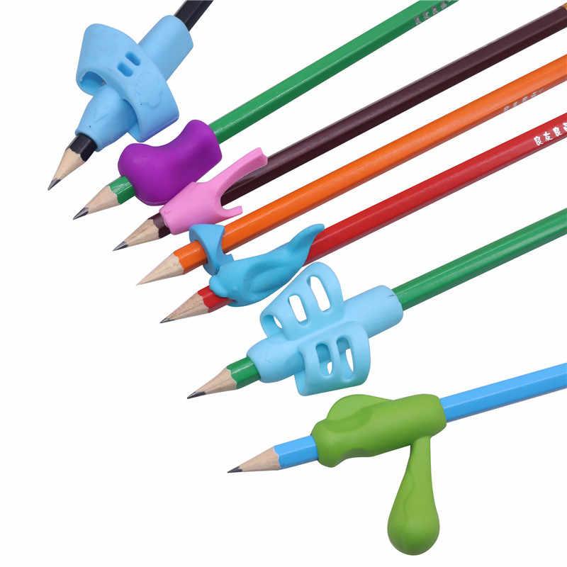 4 Pcs/set Anak-anak Yang Tidak Beracun Pensil Pemegang Pena Menulis Bantuan Grip Postur Koreksi Alat Kantor Sekolah Pena Set