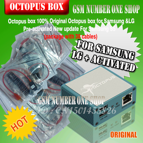 2016 The Latest 100% Original Octopus box for Samsung &LG Pre-activated New update For Samsung S5 (package with 38 cables)