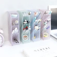 Multi-function 4 Grid Desktop Pen Holder Office School Storage Case Box Desktop Pens Pencil Organizer  Pencil Organizer все цены