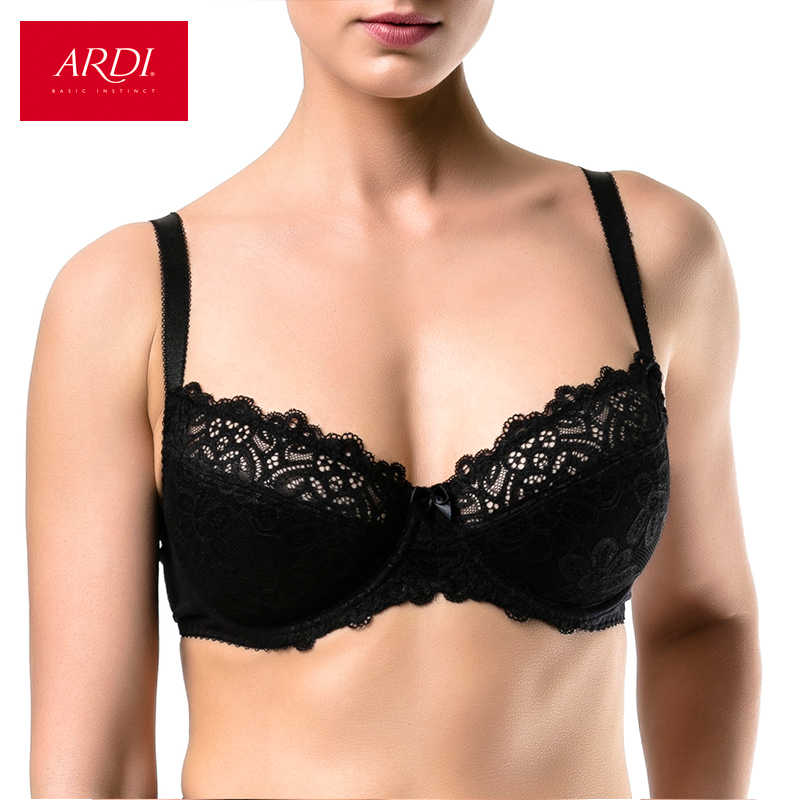 1d9c817a72e0a ARDI New Lace Women s Bra Soft Cup with Cotton Black Large Size Big Breast  Full Figuer