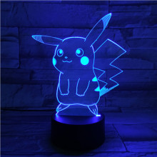 Pokemon Go Pikachu Figure Baby Night Lamp LED Color Changing Bedside luminaria Novelty Lamps Gift Usb Nightlight Child