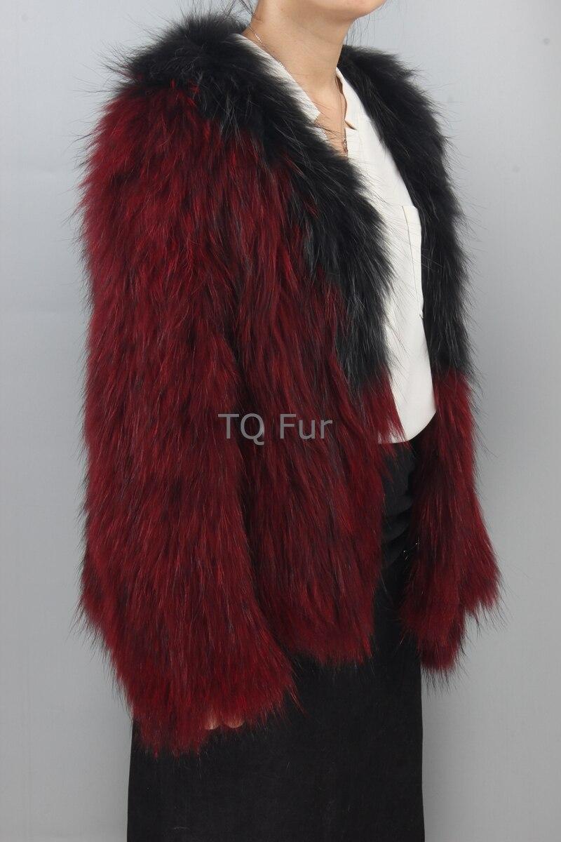 Pardessus Extérieur Complet Tricoté De Fourrure Manches Nouveau Femmes Veste Raton Vêtement Manteau Laveur KlFcT1J3