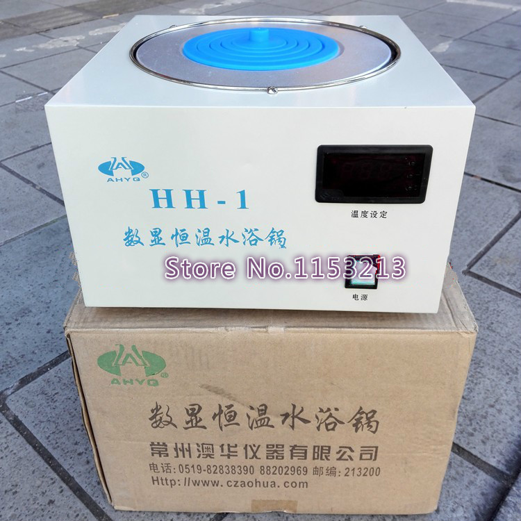 AOHUA Brand HH-1 water bath single-hole bath pot digital thermostat water bath electric water bath Boiler цена 2017
