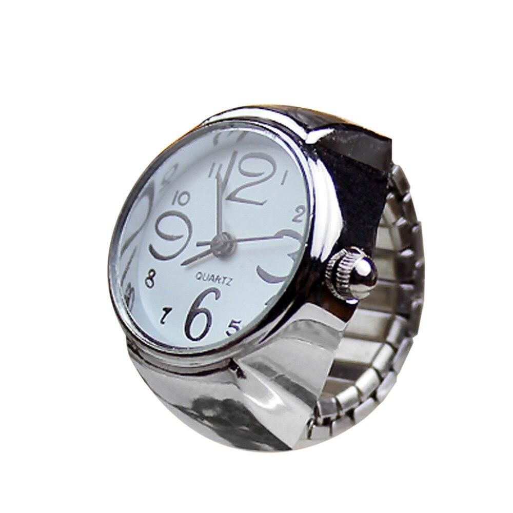 2018 New Design Dial Quartz Analog Watch Creative Steel Cool Elastic Quartz Finger Ring Watch Bracelet For Women mens Clock TG9 fashionable analog quartz bracelet watch for women purple silver 1 x lr626