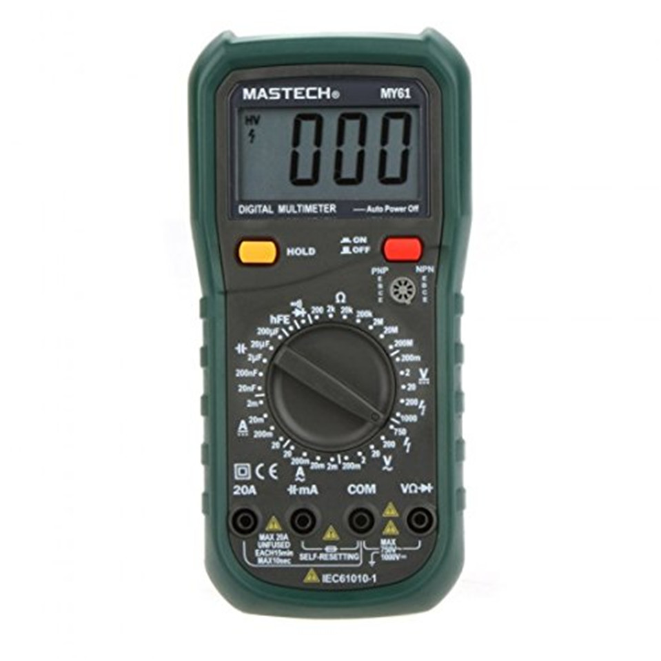 MASTECH MY61 Digital Multimeter DMM Frequency Capacitance Temperature Meter Tester w/ hFE Test Ammeter Multimetro Testers Meters digital multimeter mastech ms8264 dmm temperature capacitance tester multimeter handheld ammeter multitester