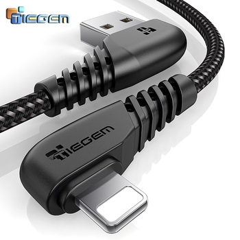 TIEGEM USB Cable For iPhone X 8 7 6 5 6s plus Cable Fast Charging Cable Mobile Phone Charger Cord Adapter Usb Data Cable 1M2M3M