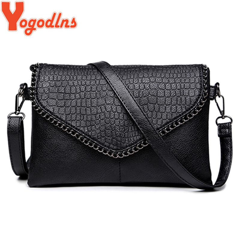 Yogodlns 2019 Small Women Soft Leather Handbags Simple Style Messenger Bags PU Shoulder Crossbody Evelope Bag Chic Ladies Clutch