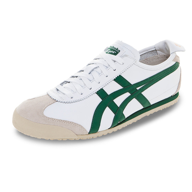 separation shoes fe138 99d31 2018 ONITSUKA TIGER MEXICO 66 White and green Rubber sole Anti-slippery  breathable Men Women Sneakers Badminton Shoes size 36-44