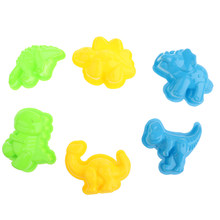 6 Styles Portable Child Kid Model Sand Clay Mold Kits Mini Dinosaur Sand Molds Beach Building Fun Activity Toys(China)