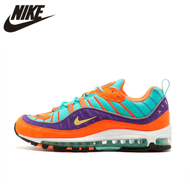 best sneakers 18561 3c30a US $110.6 30% OFF|Original Authentic Nike Air Max 98 QS CONE Men's Running  Shoes Sport Outdoor Breathable Sneakers 2018 New Arrival 924462 800-in ...