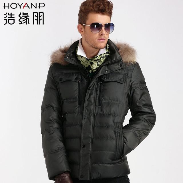 Fur collar male down coat male short design Men men's clothing winter free shipping dropshipping