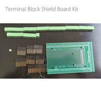 Kit de placa de escudo do bloco terminal do parafuso do protótipo do pwb do dobro lado para uno mega2560 r3|Acessórios p/ quadro de demonstração| |  -