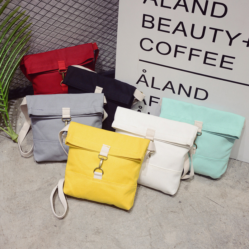 2017 New Hot Fashion Women Female Casual Cute Japanese Soft Fresh Students Solid Color Canvas Bag