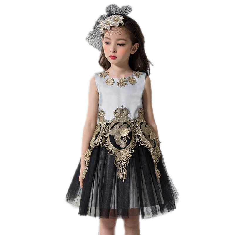 toddler girl dresses 2017 new summer sleeveless girls princess dress kids Embroidery palace clothes Party Pageant Formal dress kids toddler girls princess dress sleeveless polka dots bowknot party princess dresses summer dress