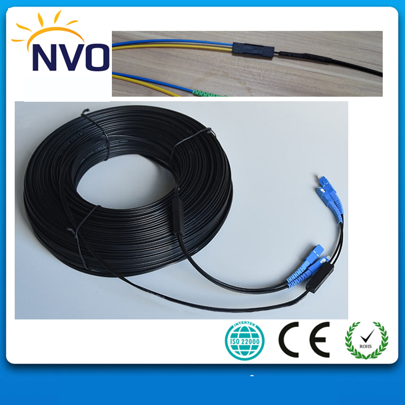 350M Outdoor FTTH Fiber Optic Drop Cable Patch Cord GJYXCH SC/UPC to SC/UPC Duplex SM G657A2 LSZH 4cores Drop Cable Patch Cord350M Outdoor FTTH Fiber Optic Drop Cable Patch Cord GJYXCH SC/UPC to SC/UPC Duplex SM G657A2 LSZH 4cores Drop Cable Patch Cord
