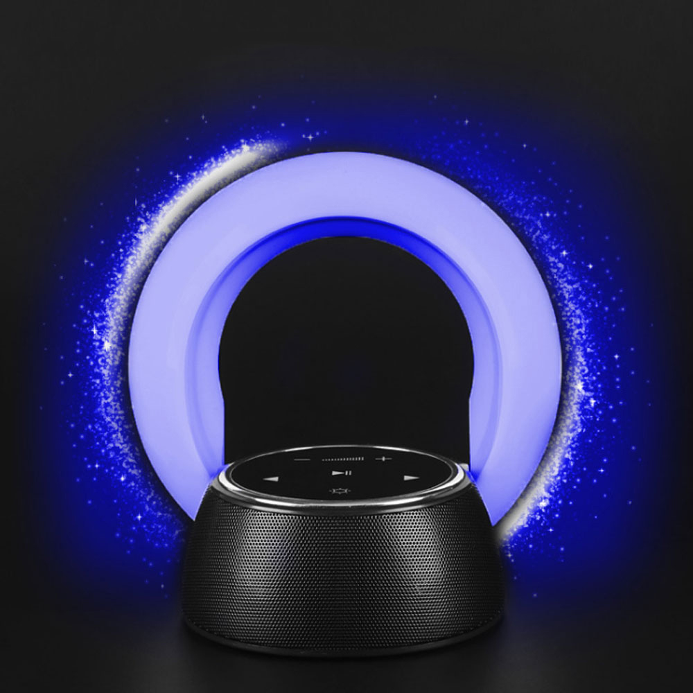 Fashion style protable wireless bluetooth speaker led desk night lamp touch control 360 degree surround sound loudsound speaker vontar bt001 fashion wireless speaker led touch control colorful night light hands free aux and portable bluetooth speaker