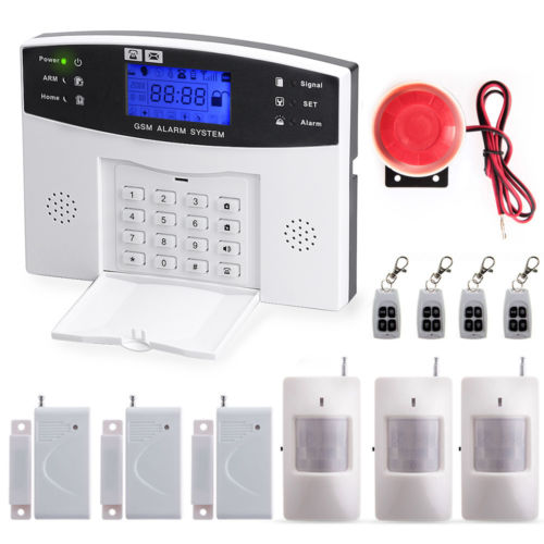 YA-500-GSM-21 Free Shipping Wireless GSM SMS Home Burglar Security Alarm System Detector Sensor Call, Voice Prompt 2 receivers 60 buzzers wireless restaurant buzzer caller table call calling button waiter pager system
