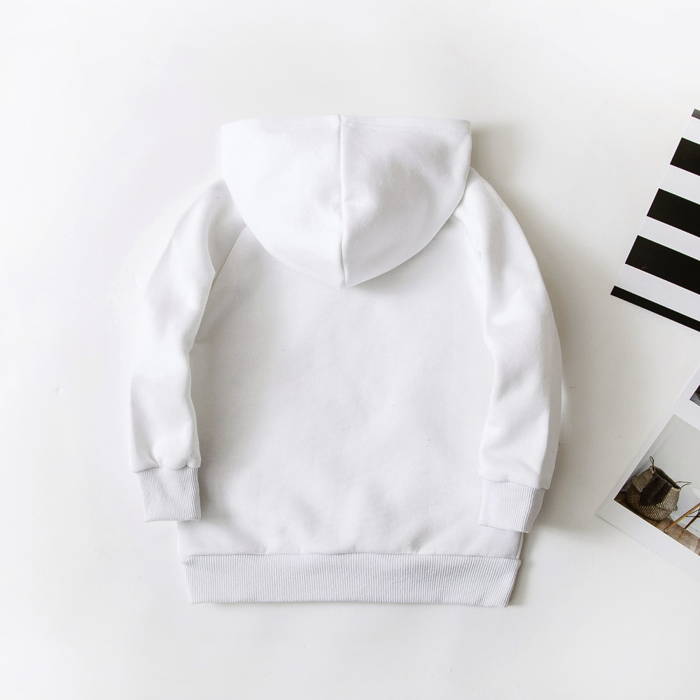Image 2 - Spring Children Boys White Sweatshirts Kids Pure Color Hoodies Cotton Girl Pullover Tops Single Layer Outerwear Clothes 1 17 YrsHoodies & Sweatshirts   -