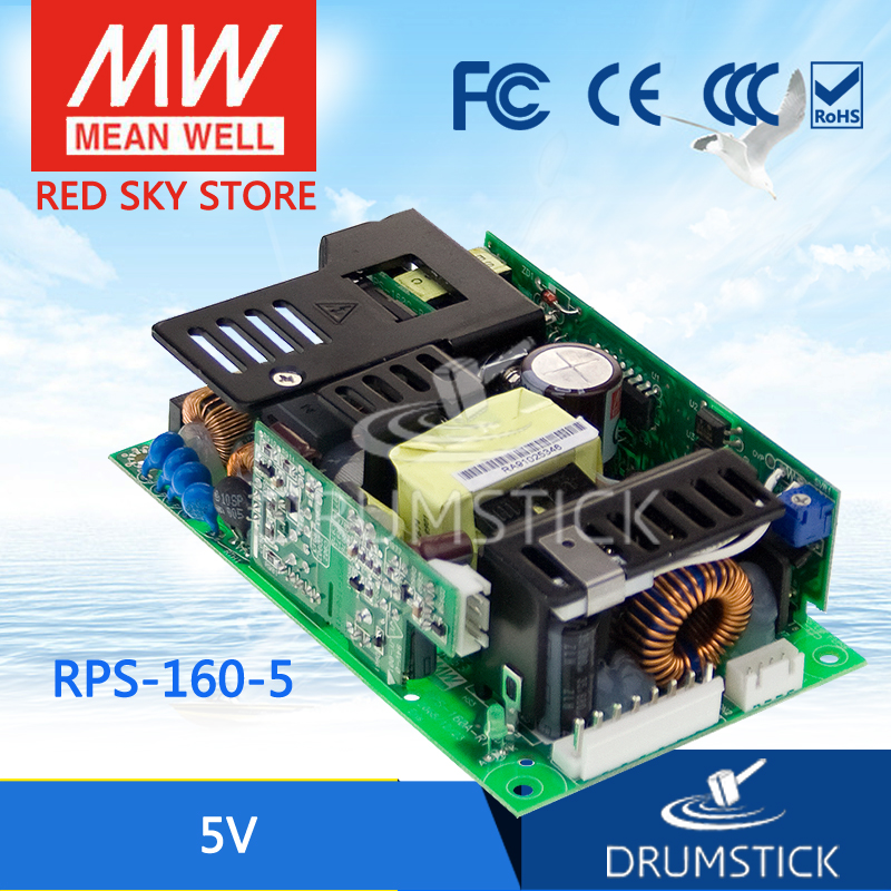 цена на Hot sale MEAN WELL RPS-160-5 5V 30A meanwell RPS-160 155W Single Output Medical Type Basic function (without 5Vsb)