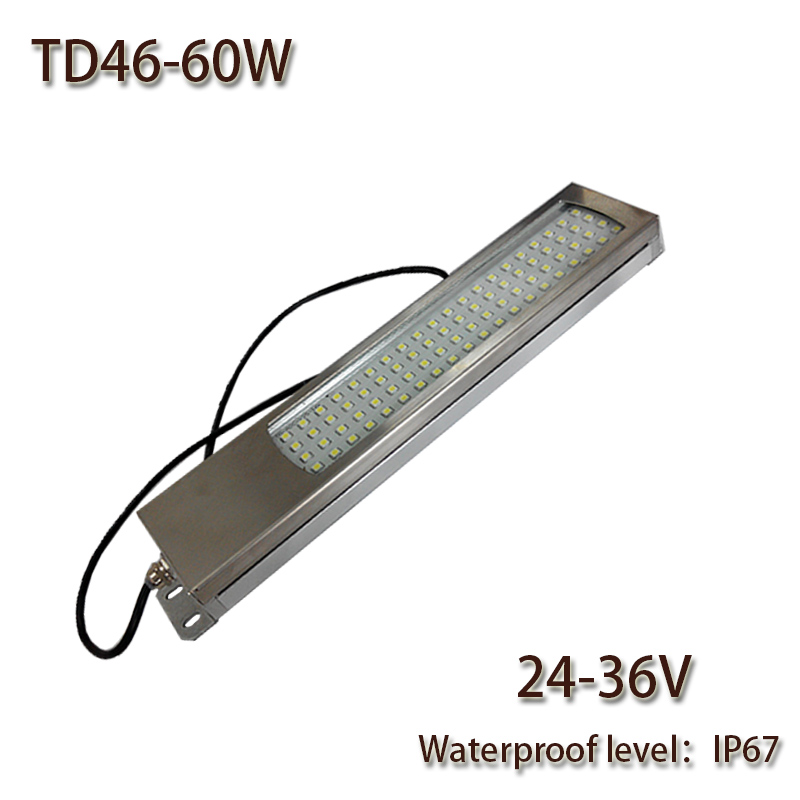 HNTD 60W Led Panel Light 24V/36V DC LED Metal work light CNC machine work tool lighting TD46 Waterproof IP67 Free shipping