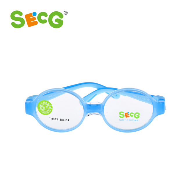 73319dddf4 SECG Baby Toddler Cute Round Children Optical Glasses Frame Myopia  Hyperopia Amblyopia Kids Frame Silicone Eyeglasses gafas