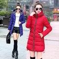 2016 Do Sexo Feminino Inverno Jaqueta de Algodão Código L-7xl Mulheres Jaqueta de Inverno Para Baixo Casaco Casaco de Inverno Casacos de Inverno Mulher