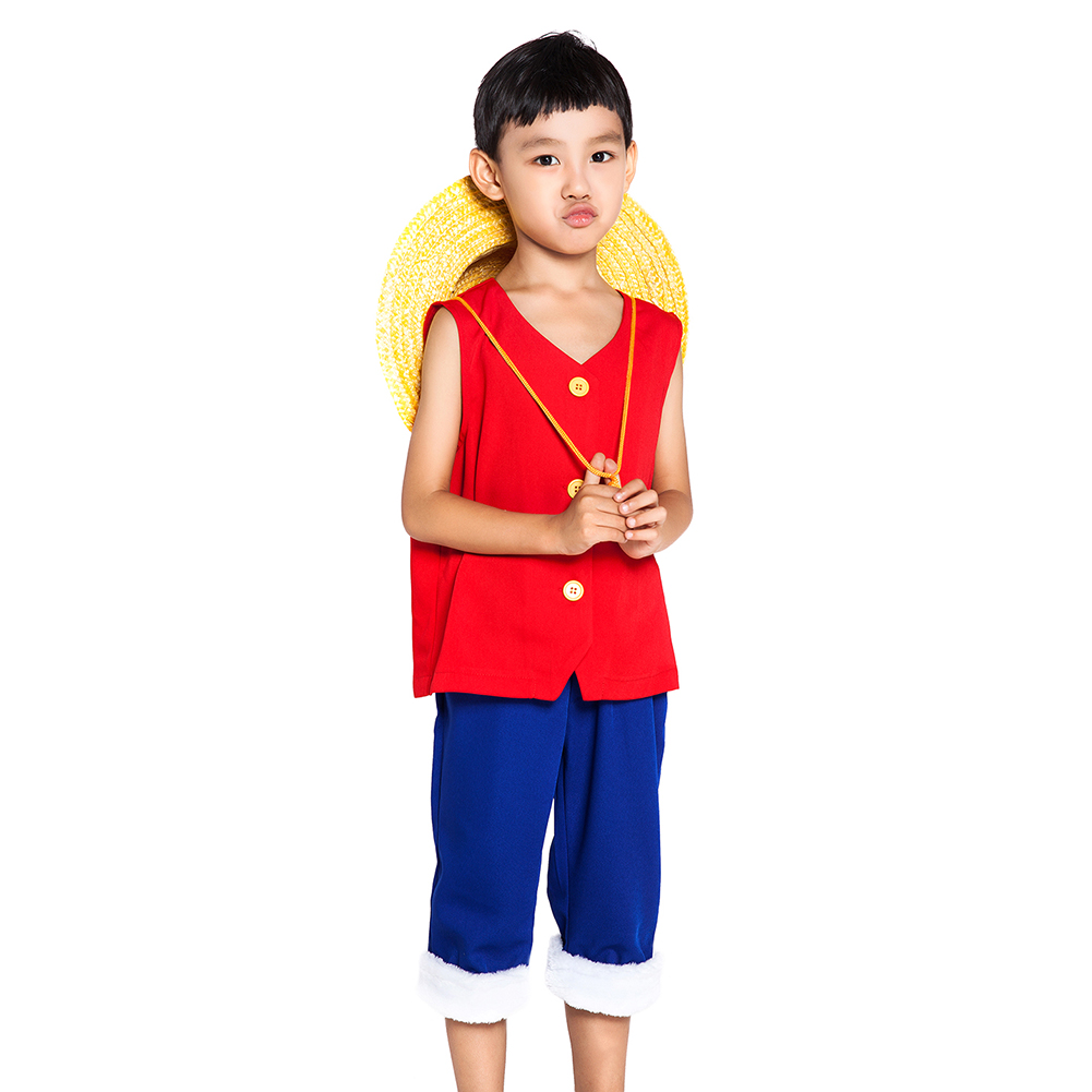 One Piece Cosplay Monkey D Luffy Costume 1st Generation Suit