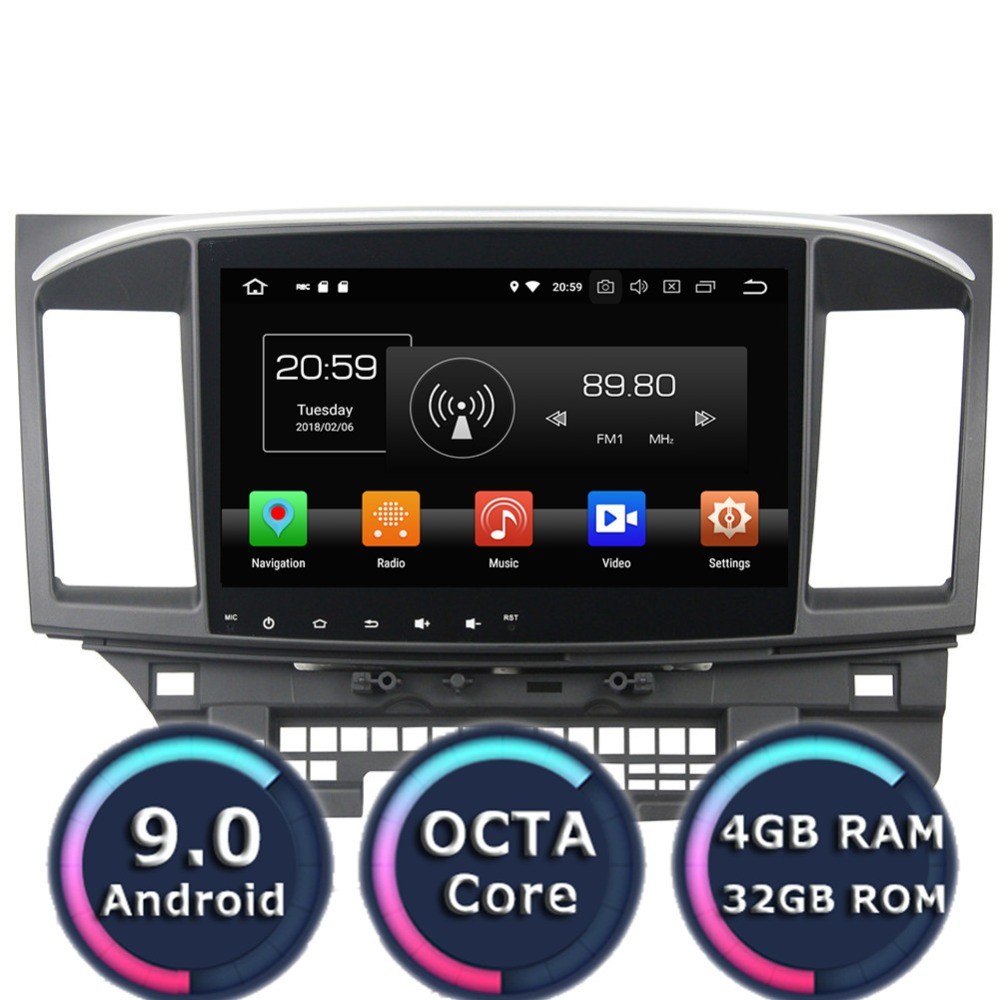 Roadlover Android 9.0 Car Multimedia Player Radio For Mitsubishi Lancer 2015 Stereo GPS Navigation AutoMagnitol 2 Din NO DVD MP3 image