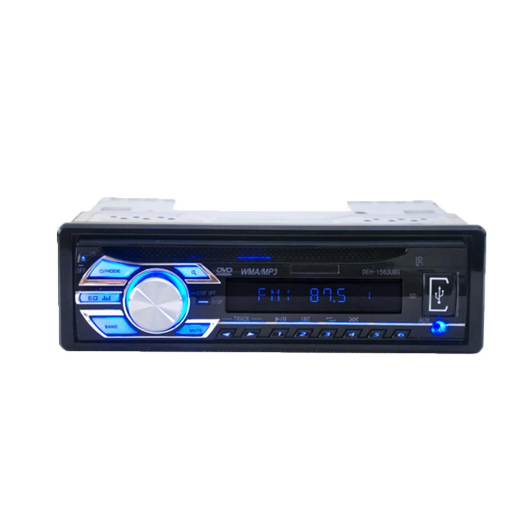 1Din 12 V voiture lecteur DVD voiture Audio USB véhicule CD VCD lecteur MP3 jouer avec prise Aux