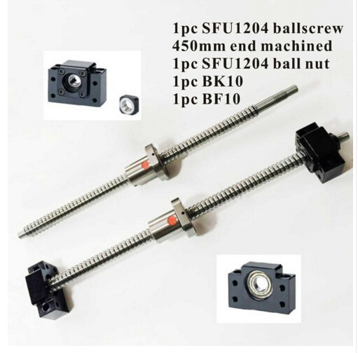 все цены на CNC Ballscrew SFU1204 Set : Ball screw SFU1204 L450mm End Machined + SFU1204 Ball Nut + BK10 BF10 End Support for Ballscrew онлайн