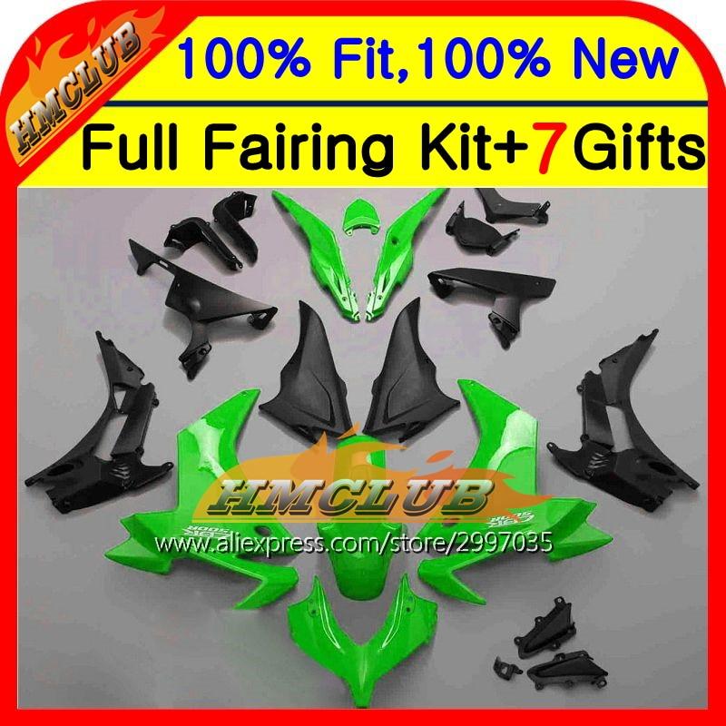 Body Green For HONDA Injection CBR500R 13-15 CBR500RR 12HM14 CBR 500R CBR500 R 13 14 15 Green black 2013 2014 2015 Fairing