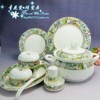 Jingdezhen ceramiczne naczynia stołowe naczynia z porcelany ręcznie pozłacany 56 szef sen czerwonych Rezydencji.